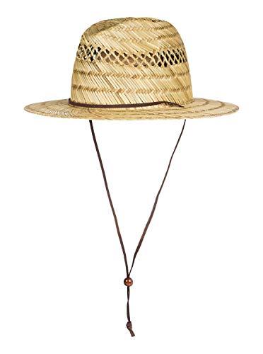 Quiksilver - Sombrero de Paja Estilo Socorrista - Hombre - Amarillo
