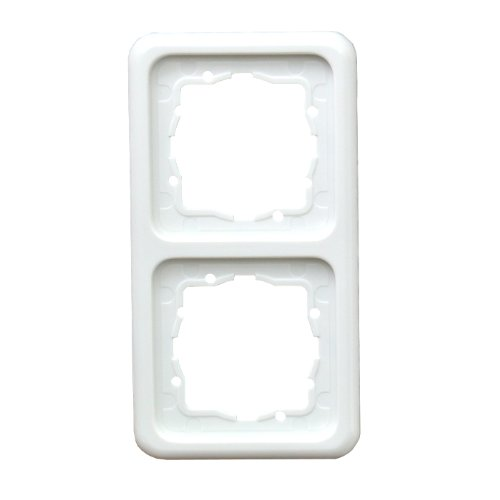 Zweifachrahmen Unterputz Hager Presto Vedder Schalterprogramm Polo Regina Ultra Weiß