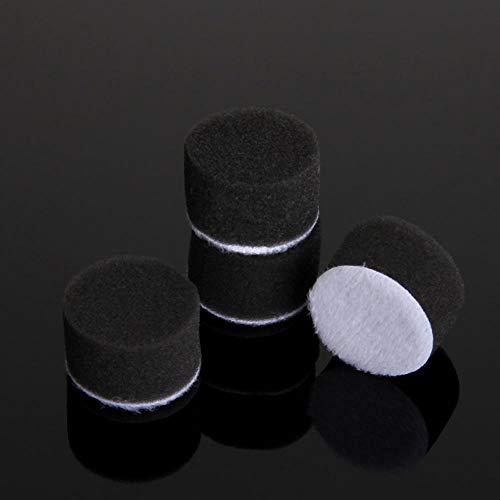 Verakee TYUZH-Esponja pulir 50pc 1 Pulgada 25mm Esponja Buff for pulir Kit, for Electric Grinder Coche Pulidora M6 for pulir Backer Plate,Usos múltiples (Color : Negro)