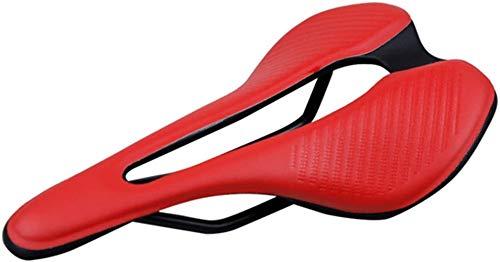 Asiento de bicicleta Asiento de bicicleta Sillines Sillín de bicicleta Silla de montar Cojín de asiento Cojín de cuero Sillín de cuero, diseño simple para hacer que su viaje se vea incluso fresco