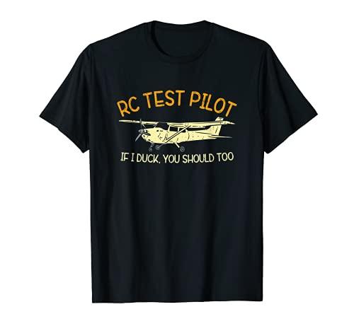 Divertente RC Pilota Aereo Aereo Drone Vintage Maglietta