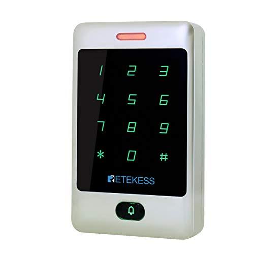 Retekess T-AC01 Control de Acceso Teclado Acceso Teclado Táctil Independiente Proximidad para RFID Sistema de Control de Acceso 125KHz Retroiluminación Teclado ID Control de Acceso