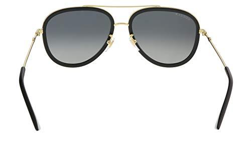 Fashion Shopping Gucci GG 0062S 011 Black Gold Metal Aviator Sunglasses Grey Gradient Polarized Lens