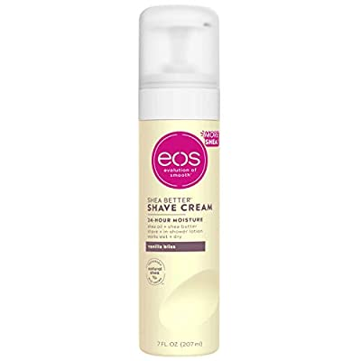 eos Shea Better Shaving Cream for Women - Vanilla Bliss | Shave Cream, Skin Care and Lotion with Shea Butter and Aloe | 24 Hour Hydration | 7 fl oz