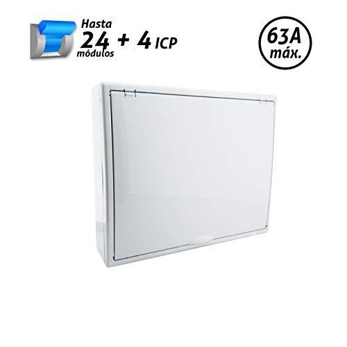 Color blanco Superficie. Solera 704B Hasta 18 elementos De 348x192x68 Caja para distribuci/ón