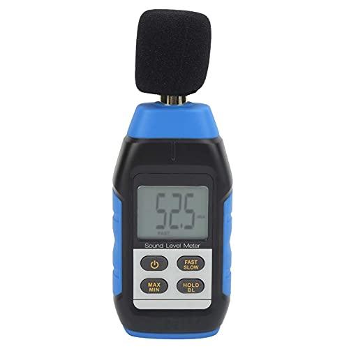 Agatige Medidor de decibelios, VMS-1 Medidor de Nivel de Sonido portátil Lector Digital Medidor de Nivel de Sonido de autocalibración Herramienta de medición con Pantalla de retroiluminación LCD
