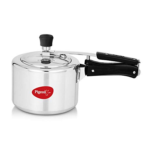 Pigeon by Stovekraft Aluminium Pressure Cooker 3 Litre Inner Lid without Induction base, silver, small (14459)