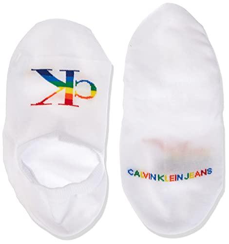 Calvin Klein Socks Womens Jeans Pride Women's (1 Pack) Liner Socks, White, ONE Size