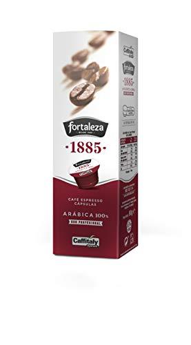 Café Fortaleza, Natural - Cápsulas Compatibles con Caffitaly, Espresso, 100{b58b9963fe770f6634bbc08b9162f440d06e7610d9f5d6990b91c5e1da70a0fa} Arábica, 1 pieza, 10 capsulas de 8 g.