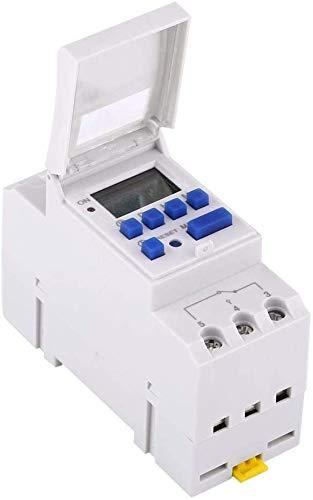 TOPINCN Temporizador electrónico, preajuste semanal programable, Temporizador 16on 16off, 1.00V