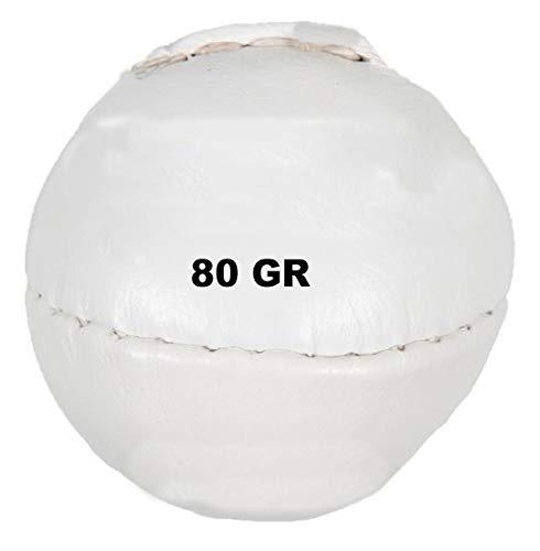 Lisaro Wurf Ball Leder 200 gr. oder 80 gr Wurfball – Schlagball ideal für Bundesjugendspiele (80 Gram Weiss)