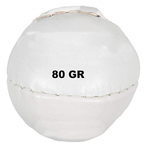 Lisaro Pelota de lanzamiento de piel, 200 g o 80 g, ideal para juegos juveniles (80 g rojo)