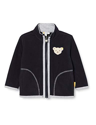 Steiff Jungen mit süßer Teddybärapplikation Sweatshirt Fleece, Navy, 110
