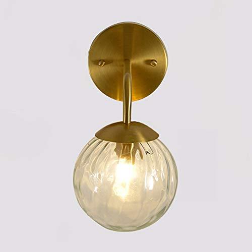 Apliques de pared Elegante cristal thicked lámpara de pared de estilo moderno del accesorio de iluminación for tocador de baño, dormitorio, vestíbulo y sala de estar (Oro) (Color : C)