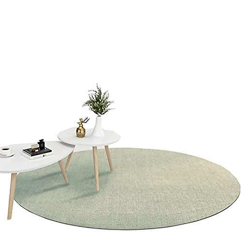 alfombra de yute Alfombra de sisal, marco de bloqueo, alfombra de fibra natural, utilizada en dormitorio y sala de estar, antideslizante y resistente al desgaste, colchoneta protectora de área grande