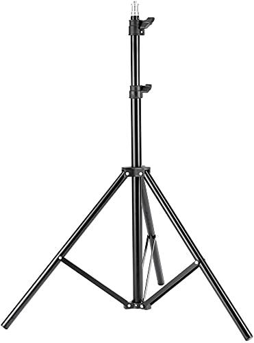 Pyxelstudio Fotostudio 2m Lampenstativ Lichtstativ, Aluminium, Einstellbar, Tragbar, für Video Blitz Softbox Reflektor