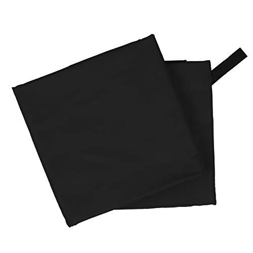 CampAir Toalla de Microfibra con Bolsa de Malla, tamaño L 60x 120cm, Negro