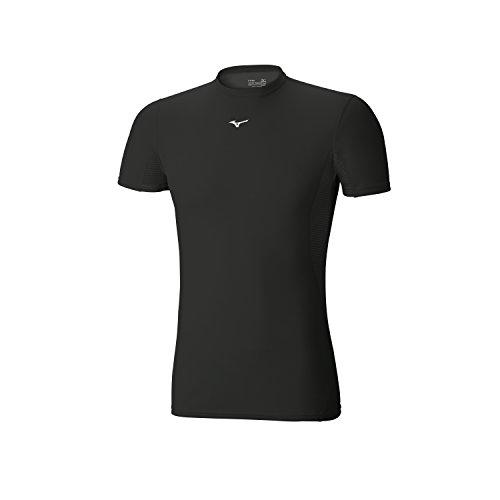 MIZUNO BT Mid Weight Camiseta Caballero, Negro, S