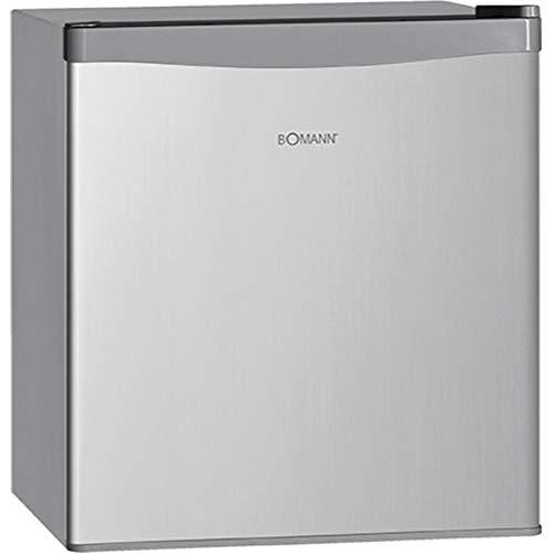Bomann KB 389 Mini-Kühlschrank / A++ / 51 cm Höhe / 84 kWh/Jahr / 42 Liter Kühlteil / regelbarer Thermostat / silber