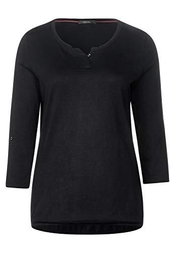 Cecil Damen 313172 Fenja T-Shirt, Schwarz (Black), X-Large