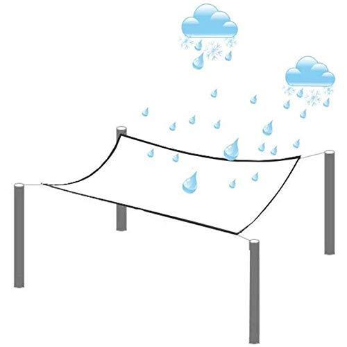 KAUTO Lona Transparente, Paño de Lluvia Transparente Aislado para Parabrisas de Gazebo para Exteriores, PVC Engrosado Reforzado con Cuatro Esquinas, 1.6mX4m