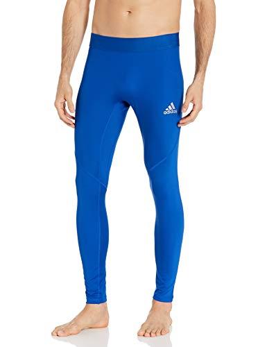 adidas Alphaskin - Mallas largas de Entrenamiento para Mujer (Ajustadas, Talla L), Color Azul
