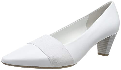 Gabor Shoes Damen Basic Pumps, Weiß (Weiss (+Absatz) 21), 37 EU