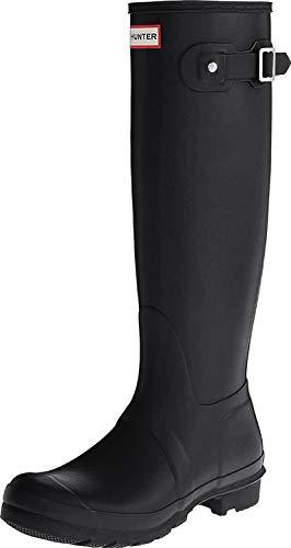 HUNTER Women's Boots Original Tall Snow Rain Waterproof Boots - Black - 9
