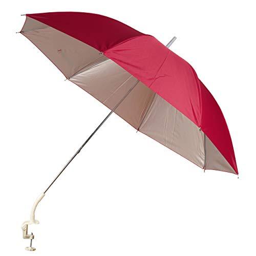 Garden Patio Balcony Beach Deck Chair Clip On Screw Clamp Umbrella Parasol UV Protection Sun Shade Rain Brolly (Red 147400)