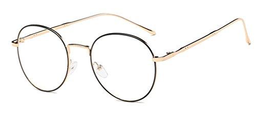 DAUCO Unisex Ovale Montatura Occhiali da Vista Occhio Frame Struttura Vetri Ottici Pianura rotonda vetro Plain completa-Rim Occhiali