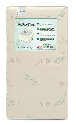 Simmons Kids SlumberTime Naturally Foam Crib and Toddler Mattress | Waterproof | GREENGUARD Gold Certified | Trusted 35 Year Warranty | Made in The USA