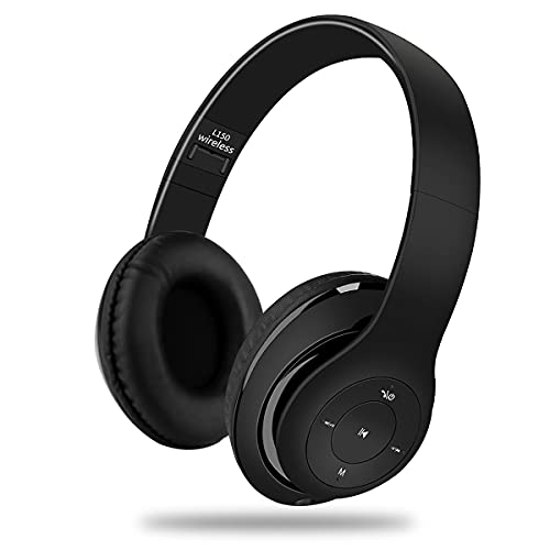 YiYunTE Auriculares Bluetooth de Diadema Cascos Plegable Bluetooth Inalámbrico Auriculares Over Ear con Micrófono Cancelación de Ruido Auriculares para PC Tablet TV iPhone iPad Xiaomi