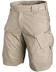 Delisouls 2021 Upgraded Waterdichte Shorts, heren Cargo Shorts, heren fietsbroek, Relaxed Fit Waterbestendig werk wandelen shorts outdoor activiteit