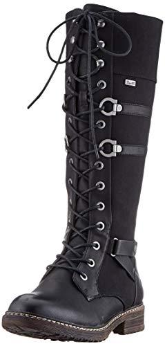 Rieker Damen Stiefel 94732, Frauen Klassische Stiefel,riekerTEX,schnürstiefel,weiblich,Women's,Boots,Lady,Ladies,Woman,schwarz (00),42 EU / 8 EU