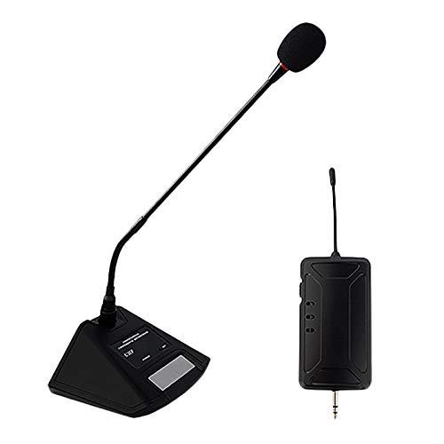 Cobeky Micrófono de escritorio con cuello de cisne condensador para sala de conferencias