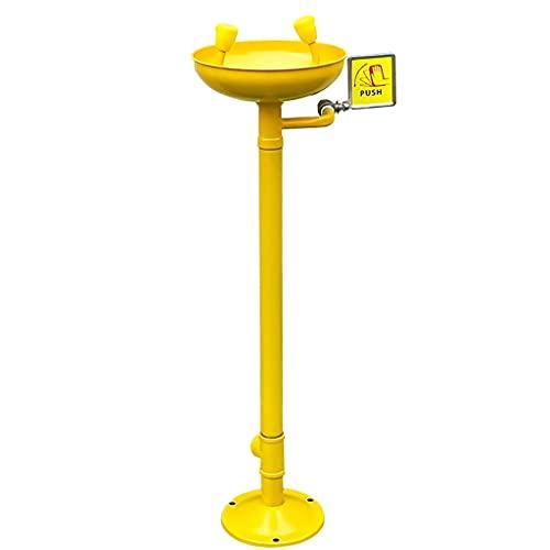 BBGS Pedestal Montado Estación de Lavado de Ojos de Emergencia 304 Acero Inoxidable Colirio con Lavaojos Grande para Las Fábricas Laboratorios Químicos (Color : Without pedals, Size : Style 1)