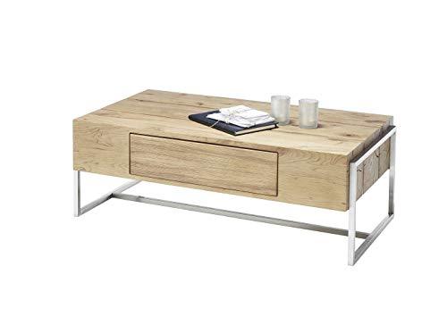 Möbel-Store24 Couchtisch Wohnzimmertisch Asteiche furniert Schublade rechteckig geölt 110 cm Dana M58850AZ7