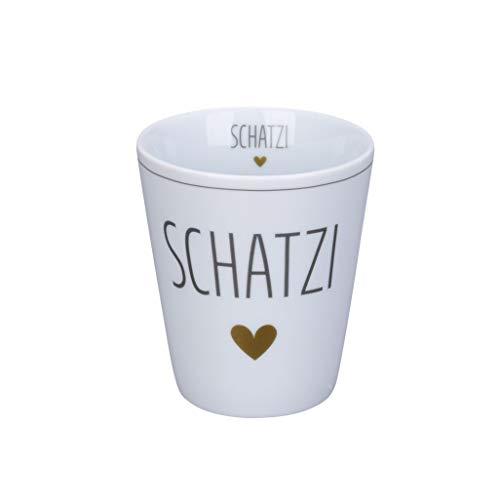Krasilnikoff - Becher, Tasse - Happy Mug - Schatzi - Höhe: 10 cm - Volumen: 330 ml