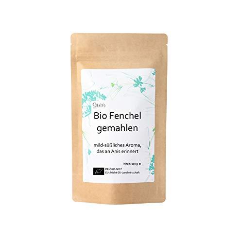 Suna Bio Fenchel gemahlen | mild-süßliches Aroma, das an Anis erinnert | Päckchen 100 g