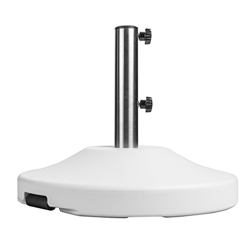 US Weight Fillable Free Standing Umbrella Base, Empty, White