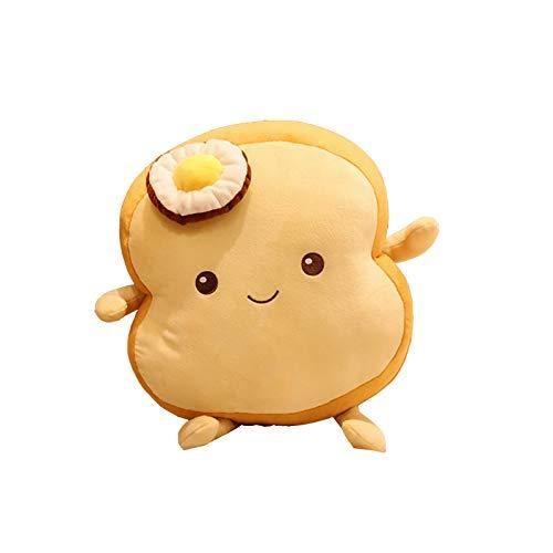 UOWEG Sliced Toastbrotkissen Plüschbrot Essenskissen Weich Gefüllt Brot Plüschkissen Gesichtsausdruck Toastbrot Spielzeug Für Kinder Und Erwachsene Geschenk Toast Brotkissen Brotform-plüschkissen