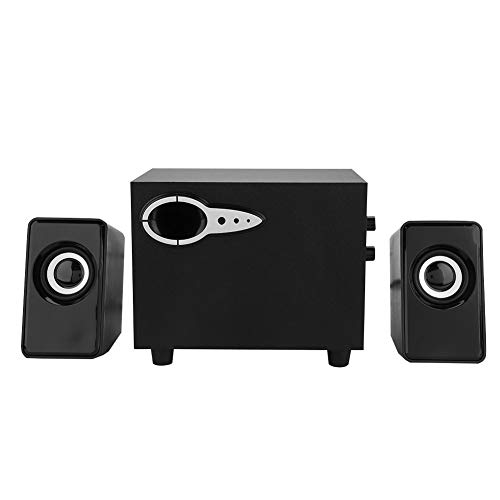Save %9 Now! Mugast Multimedia Speaker, Crisp & Crystal Sound Computer Wooden Subwoofer Heavy Bass F...
