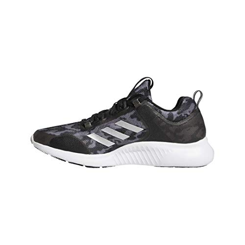 adidas Women's Edgebounce 1.5 Running Shoe, Black/Silver Metallic/Grey, 8 M US