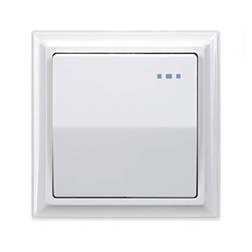 2 unids 1gang 2 Way 16A Interruptor de pared de la UE Interruptor de empuje Interruptor de la pared del interruptor de la pared del interruptor de la PC del panel de la lámpara de encendido/apagado
