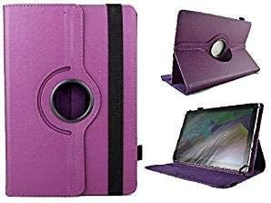 theoutlettablet Funda Giratoria 360º para Tablet Alcatel 1T Smart 10' -Morado