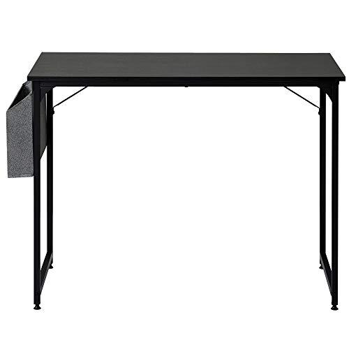 zcyg Mesa de escritorio para ordenador portátil, mesa de estudio, escritorio de escritorio, para espacios pequeños, para casa, oficina, estación de trabajo, 100 x 50 x 75 cm