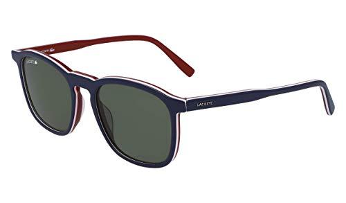 Lacoste L901s L901S-424 - anteojos de sol rectangulares unisex para adulto, 52,18 mm, color azul, blanco y verde