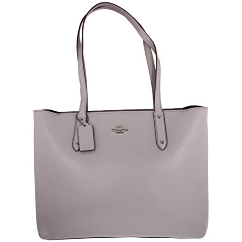Coach Central Ladies Large Leather Tote Bag Grey Size: L