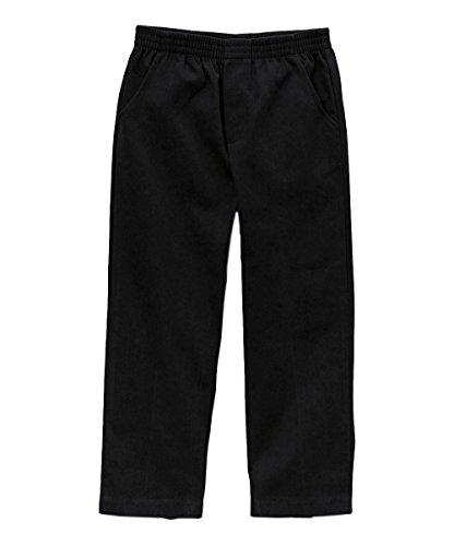 unik Boy's Uniform All Elastic Waist Pull-on Pants BU03 Black 10