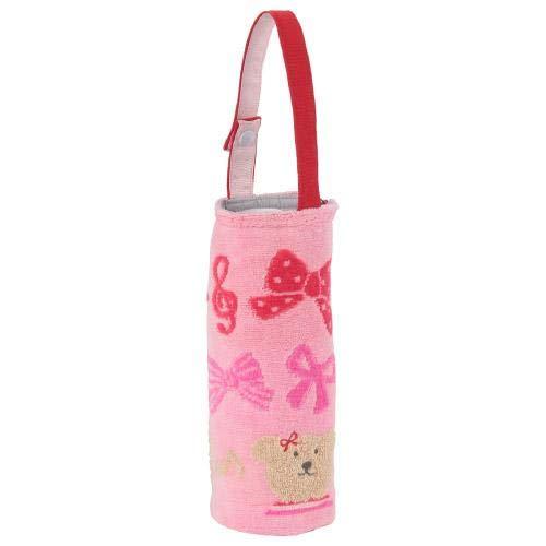 レインボーベア ペットボトルケース スキップ (ピンク) ペットボトルホルダ 今治タオル 飛行機・リボン